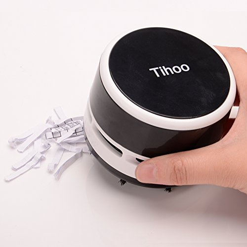 Tihooデスクトップ掃除機デスクトップコンピュータキーボード家具の表面車の座布団ミニ掃除機(黒)
