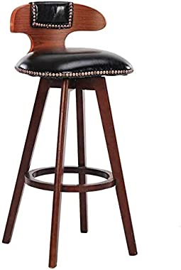 HZC Bar stools Chair, Hemp Rope Swivel Polyurethane seat, high stools, Dining Room Chairs for Breakfast Kitchen | Pub | CAF ; Bar Stool Max. 440lb (Color : Brown, Size : Seat Height:27inch)