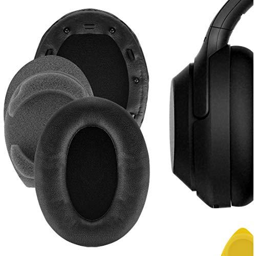 Geekria QuickFit - Almohadillas de piel de proteína para auriculares Sony WH-1000XM3, almohadillas de repuesto para auriculares
