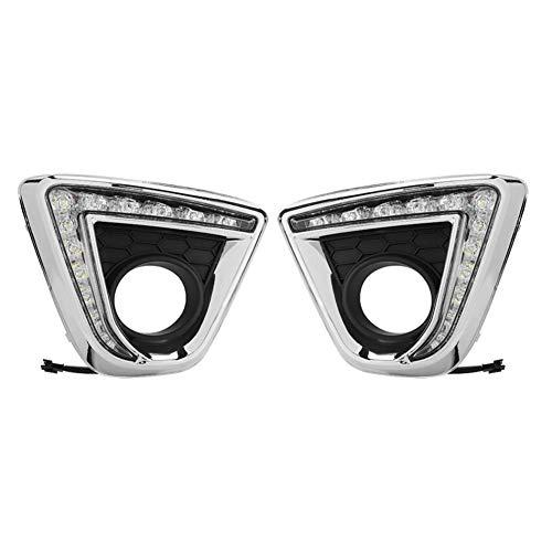 WPFC 2-Farben-Auto-LED Tagfahrleuchte Blinker DRL Lichter Nebellampenabdeckung Für Mazda CX-5 2012 2013 2014 2015 1 Paar
