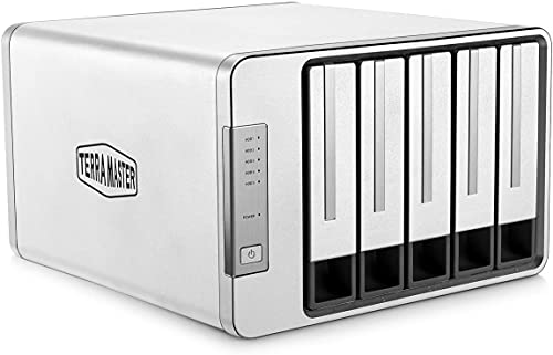 TERRAMASTER D5-300 Tipo C USB3.0 (Gen1) 5 Bahía Caja Disco Duro Externo Soporte Raid 5 Almacenamiento de Disco Duro Raid (Sin Disco)