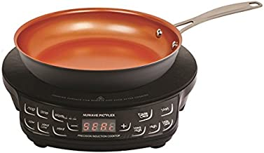 NuWave Flex Ceramic Precision Induction Electric, Induction, Single Burner Cooktop with 9-Inch Frying Pan