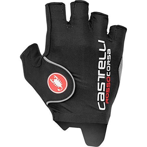 castelli Rot Corsa Pro Fahrradhandschuhe für Herren XL Schwarz