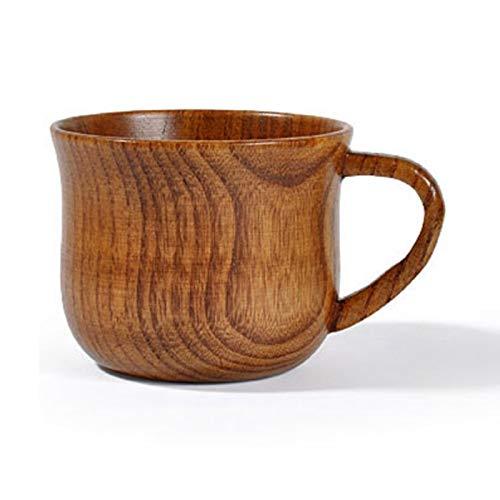 Robber Becher, Hochwertige Natürliche Massivholz Teetasse, Vintage Handgefertigte Runde Teetasse Aus Holz Kaffeetasse Kaffee Tee Milch Dekoration, 175Ml