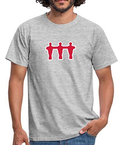 Fußball Spieler Tischfußball Table Soccer Männer T-Shirt, XXL, Grau meliert