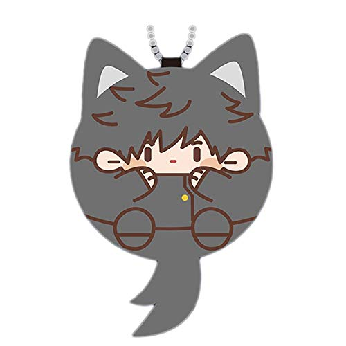 Hotiego 3.1' Anime Plush Keychain Anime Plush Stuffed Cute Keyring Vocal Pendant Ornaments Props for Fans(Color A)