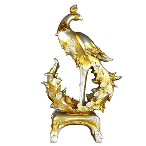 YIGEYI Accueil Doux Robe Résine Artisanat Phoenix Décoration Ouverture Cadeau d'affaires Europe Et Amérique Style Sculptures Décoratives (Couleur : A)
