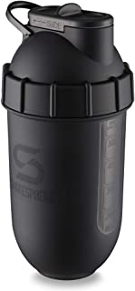 ShakeSphere Tumbler VIEW: Protein Shaker Bottle with Side Window, 24oz ● Capsule Shape Mixing ● Easy Clean Up ● No Blendin...