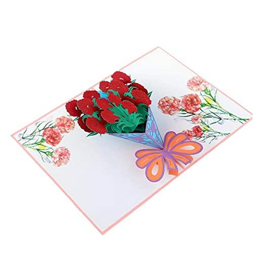 NiceCore 3D Pop Up Grußkarten-Karte Jubiläumskarte Blumenstrauß-Gruß-Karte Home Decor