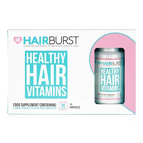 HAIRBURST Hair Growth Vitamins - Biotin Hair Growth Supplement - 3 Month Supply - 180 Capsules - Hair Vitamins To Help You Grow Longer, Stronger More Beautiful Hair