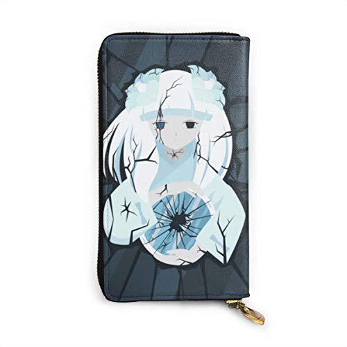 AOOEDM Inuyasha Kanna Pflanze Blumen Sonnenblumen Brieftasche Reißverschluss um Leder Brieftasche Visitenkartenhalter Aufbewahrungstasche, Kartentasche Wechsel Aufbewahrung