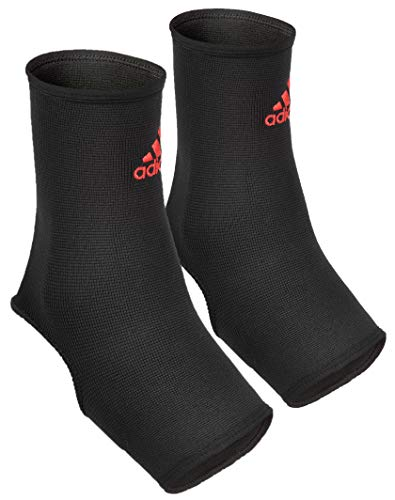 'Adidas 2 Pack Compression Ankle Support with Reinforced Nylon, Black, Size Large'