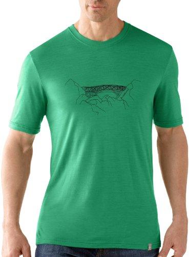 Smartwool Peak to Peak T-Shirt à Manches Courtes pour Homme Coupe Slim Vert Clover XL