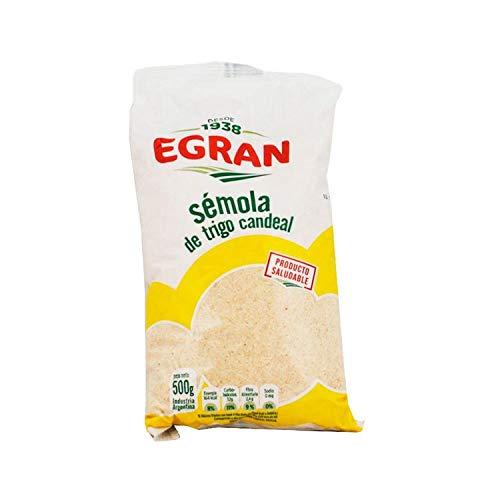 Egran - Sémola de Trigo Candeal - Fuente de Proteicas - Directo de Argentina - 500 Gramos