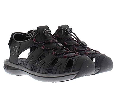 Khombu Sandal Ladies Ashley Active Sandal (9, Black/Purple)