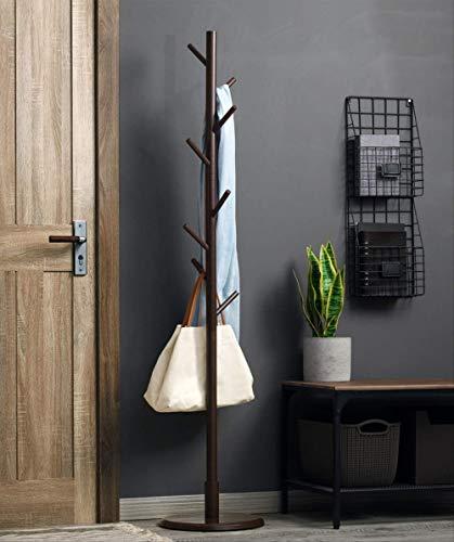 SADDPA Perchero de bambú de Pie de árbol Perchero de Madera, Estilo Industrial maximiza tu Espacio de Almacenamiento para Ropa, Sombrero, Bolsa