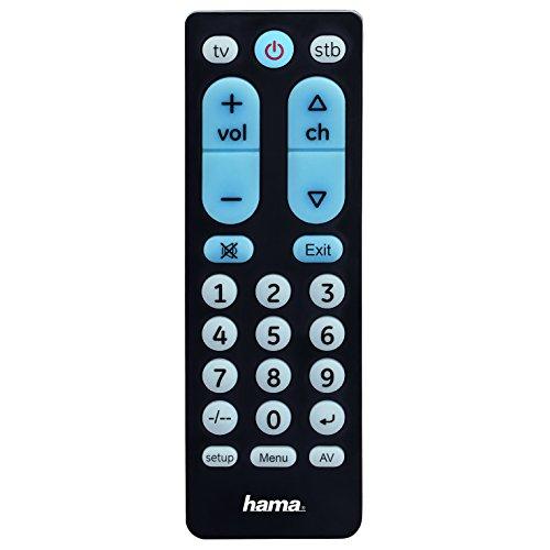 Hama 00040072 Fernbedienung IR Wireless STB,TV Drucktasten - Fernbedienungen (STB,TV, IR Wireless, Drucktasten, Schwarz)