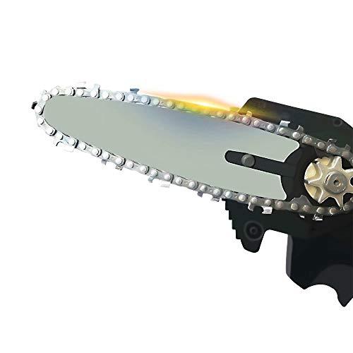 Mini-Kettensäge 4 Zoll Akku Elektro Kettensäge mit Wiederaufladbarer 24V 550W Batterie, Leichte 0,7 kg Einhand Schere Kettensäge zum Schneiden von Ästen