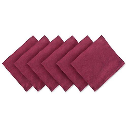 DII Servietten, 100% Baumwolle, Übergröße, 50,8 x 50,8 cm, für den täglichen Gebrauch, Bankette, Hochzeiten, Veranstaltungen oder Familienfeiern, Weinrot, 6 Stück