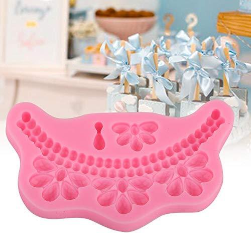 【𝐏𝐫𝐨𝐦𝐨𝐜𝐢ó𝐧 𝐝𝐞 𝐒𝐞𝐦𝐚𝐧𝐚 𝐒𝐚𝐧𝐭𝐚】 Cake Maker, Molde de Fondant Seguro no tóxico Tipo Collar de Perlas, Silicona Reutilizable para Hacer Pasteles