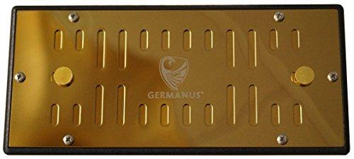 GERMANUS Metall Humidor Befeuchter mit Kristallen Kassette XL Gold II, regelbar
