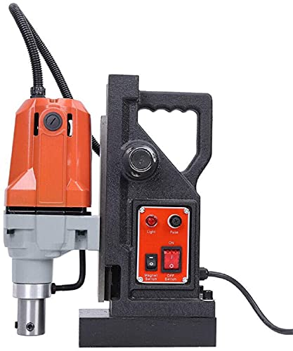 Electric Magnetic Drill Press, 1100W Heavy-Duty High-Speed Magnetic Drill Drill Hole Diameter 1.5 Inches for Steel Structure Shipbuilding Equipment Manufacturing Installation