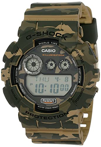 CASIO G-Shock GD-120CM-5 - Orologio digitale in legno mimetico, serie limitata