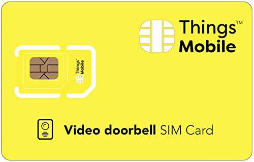 Tarjeta SIM IOT/M2M para VIDEOPORTERO/Video DOORBELL - Things Mobile - con Cobertura Global y Red multioperador GSM/2G/3G/4G LTE, sin costes fijos. 10 € de crédito Incluido