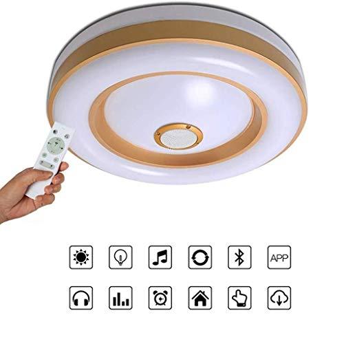 Plafondlamp met bluetooth-luidspreker, wit, dimbaar zonder Philips, mobiele app-bediening, kleur RGB, licht sfeer, afstandsbediening