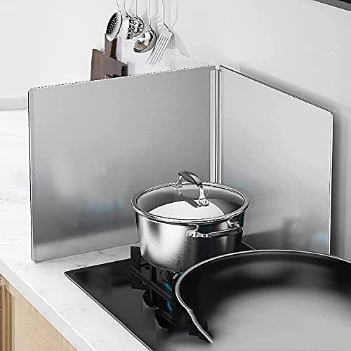 Protector Salpicaduras Cocina Protector de protección antisalpicaduras de cocina contra salpicaduras de aceite, placa de pantalla de aceite para estufa de gas, herramienta de utensilios de cocina a p