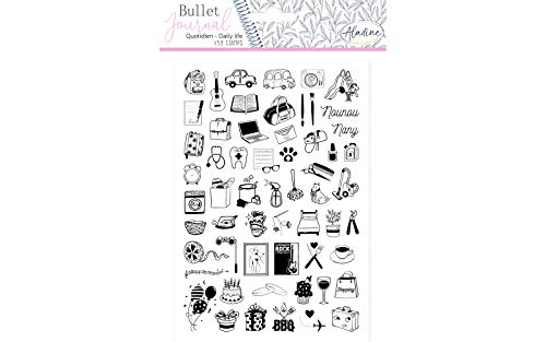 Tampons Stampo Bullet Journal - Quotidien - 59 pcs