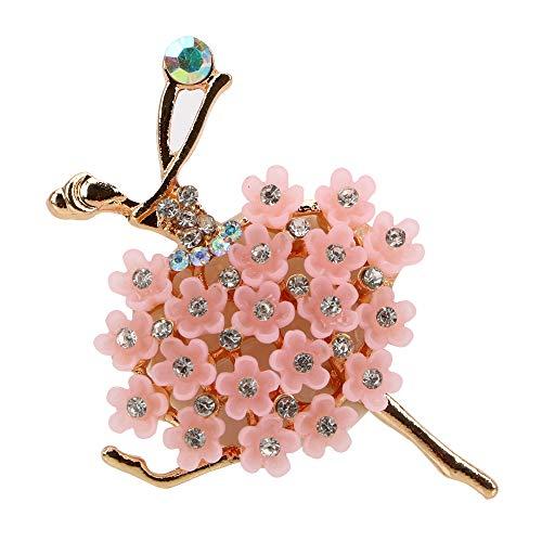 XIAOQIAO Diamante Ballet Girl Car Air Vent Perfume AUTOMO AUTOMÓVIL AVEN Anillo DE Aire DE CUCHE DE CUCHO ARRAMA DIFUSOR DE LA FROMACION SOLIDA (Color Name : Pink)