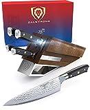 DALSTRONG Knife Set Block - 5pc - Shogun Series X Knife Set - AUS-10V High-Carbon Japanese Super Steel - Black G10 Handles - Acacia Wood Block