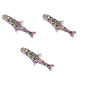 Yeowww! Pollock Fish Catnip Toy, 3 Pack