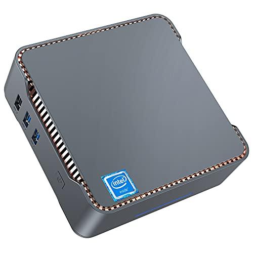 Mini PC, 8GB DDR4 + 256GB SSD Intel Celeron J4125 Procesador (hasta 2.7GHz) Windows 10 Mini Ordenador de Sobremesa, WiFi de Banda Dual 2.4G/5G, 2*HDMI +1*VGA Puertos, BT4.2, 4K HD Mini Computadora