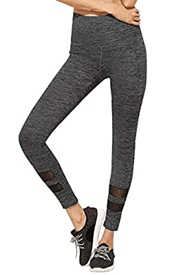 BLINKIN Mesh Yoga Gym and Active Sports Fitness Grey Legging Tights for Women|Girls(Polyester Fabric)(213)