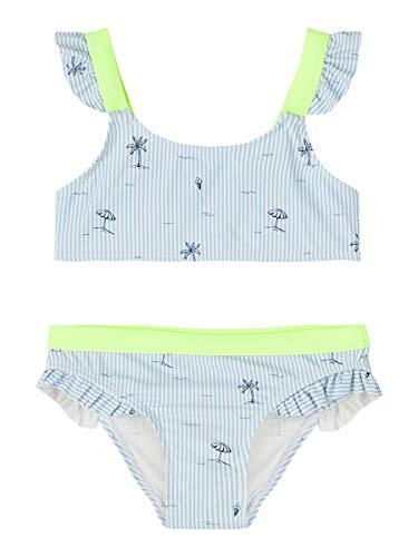 NAME IT Mädchen Bikini NKFZIKKONA Bikini, Größe:158-164, Farbe:Bright White