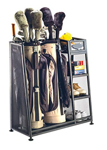 Suncast Golf Bag Garage Organizer Rack - Golf Equipment Organizer Storage...