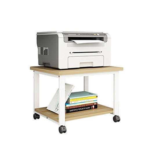 Yamyannie Soportes de Escritorio para Impresora Estante de Impresora Escritorio de Mesa de Almacenamiento Escritorio de Oficina bajo Estante Piso Movible Hierro Forjado Rack Material de Oficina