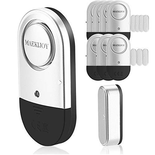 MAEKIJOY - Alarma para puerta o ventana, protección antirrobos con pilas, inalámbrica, 120 dB, alarma para ventana, para casa, garaje, oficina, vitrinas, seguridad para niños