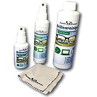 Panda Cleaner® Set 400ml Limpiador de gafas 50ml spray para viajes + 100ml para casa + 250ml botella | sin alcohol | antibeschlag | streifenfrei | también para pantallas, monitores, visera