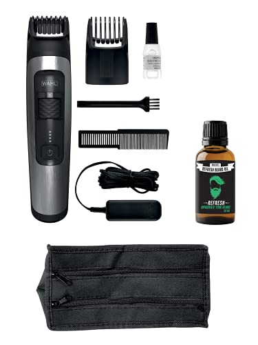 Wahl 1065.3998999999999 - Aqua Blade Timmer with Refresh Beard Oil
