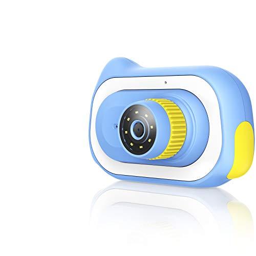 Pancellent Regalos De Cámara Digital para Niños para Niñas De 3-12 Años, Microscopio De 15.0M 0 ~ 200X Juguetes De Aumento Biológico Educativo Temprano con Tarjeta De Memoria 16G, Azul