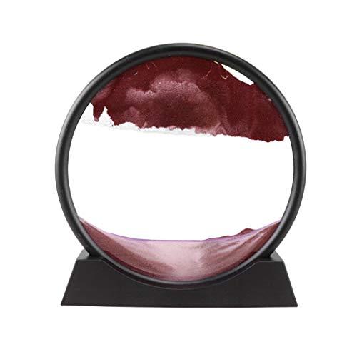 Winkey Sanduhr 3D Natürliche Landschaft Treibsand Bild Mobile Sanduhr Treibsand Malerei Wohnzimmer Dekoration (Lila)