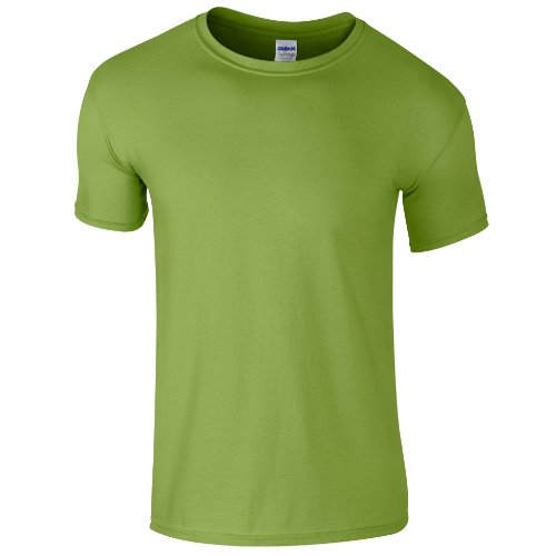 Gildan - Camiseta básica de manga corta Unisex Estilosa Suave Niños Niñas - Verano/Calor (Grande (L)/Verde kiwi)