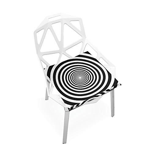 Cojín de espuma viscoelástica para sillas de cocina, suave, lavable, antipolvo, para silla de comedor, 40,6 x 40,6 cm (óptica 3D) 2030066