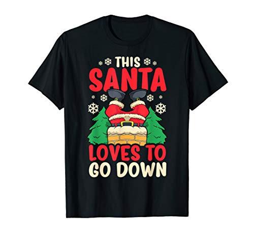 Dieser Weihnachtsmann liebt Going Down Weihnachtskamin T-Shirt