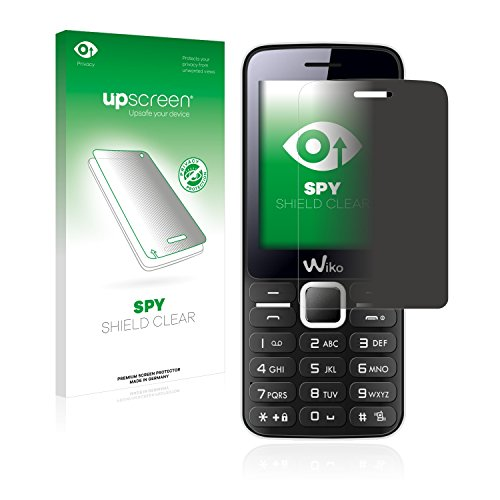 upscreen Anti-Spy Blickschutzfolie kompatibel mit Wiko Riff Privacy Screen Sichtschutz Bildschirmschutz-Folie