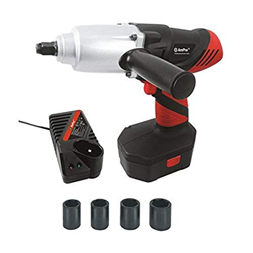 "AmPro T80253 1/2"" Dr Cordless Impact Wrench, 24V W/Battery"