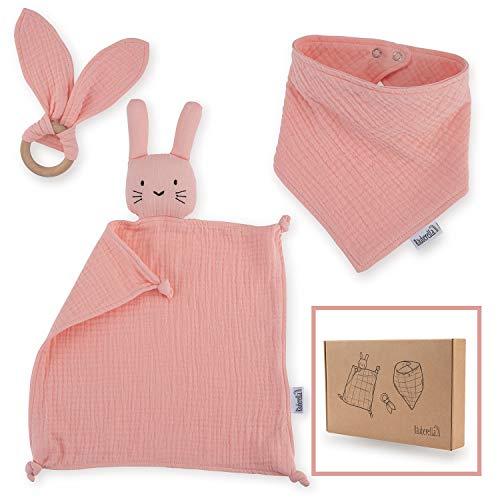 Räuberella Schmusetuch, Beißring und Lätzchen Baby Geschenk zur Geburt Mädchen